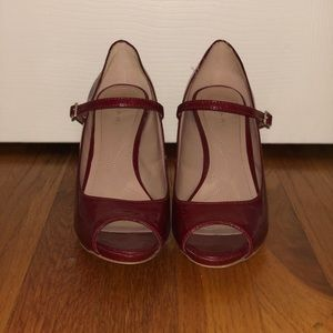 9b679a33f75 Shoes - Tahari Red Patent Leather Peep Toe Strappy Heels